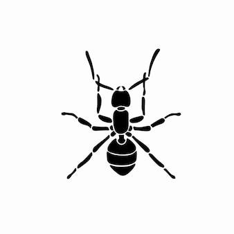 Муравей логотип символ трафарет дизайн татуировки векторные иллюстрации