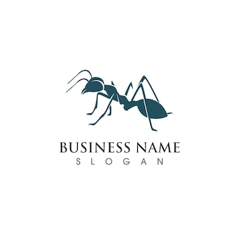 Ant logo and symbol vector image