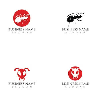 Иллюстрация шаблона логотипа муравей
