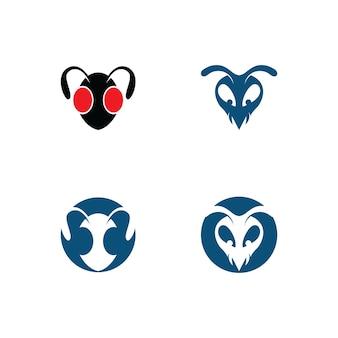 Муравей логотип шаблон векторные иллюстрации дизайн