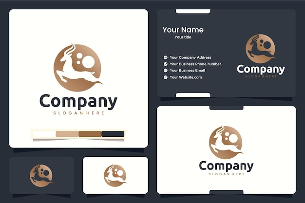 アンテロープ、ジャンプ、ロゴデザインのインスピレーション