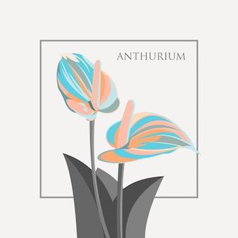 Антуриум цветок иллюстрации вектор