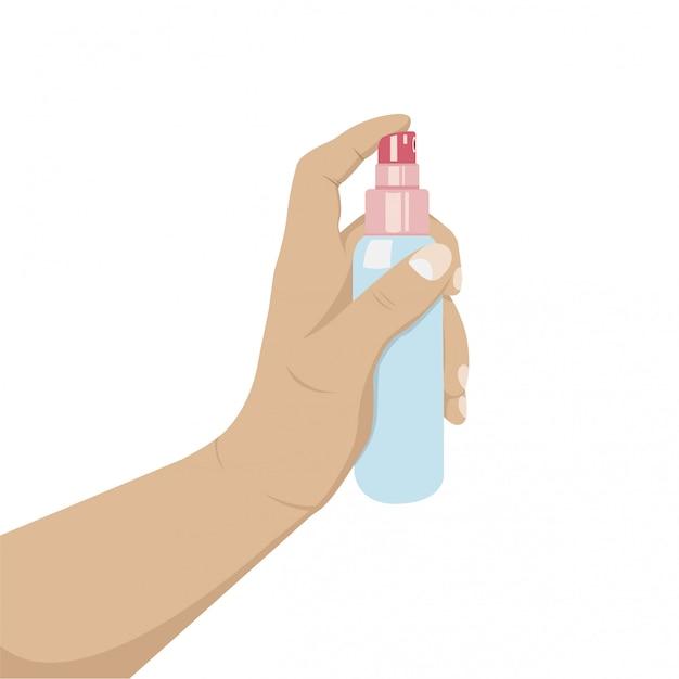 Anti-bacterial sanitizer spray