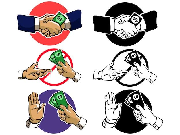 Anti corruption hand sign
