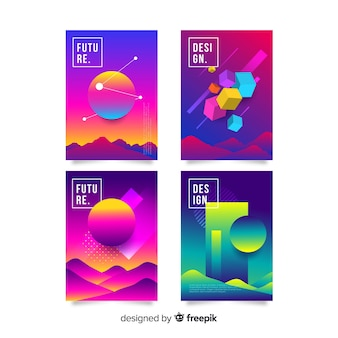 Anti gravity shapes cover collection
