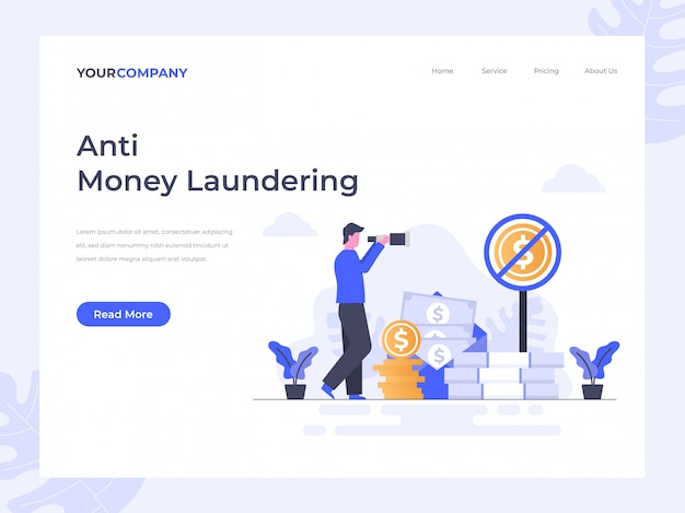Anti money laundering landing page