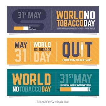 Striscioni contro il fumo