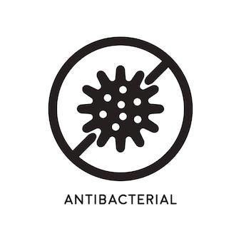抗菌および抗ウイルス防御。細菌と微生物のアイコン。ベクトルイラスト