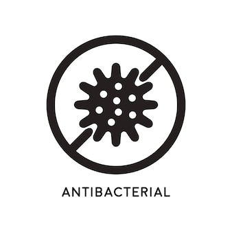Antibacterial and antiviral defense. germs and microbe icon. vector illustration