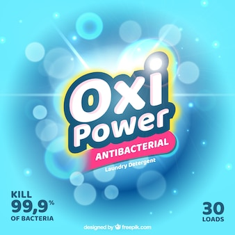 Antibacterial detergent glossy background