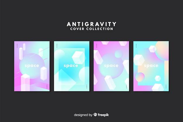 Antigravity geometric shapes cover collection