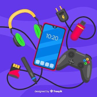 Antigravity mobile phone with headphones