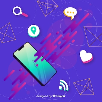 Antigravity mobile phone with items