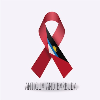 Antigua and barbuda flag ribbon design