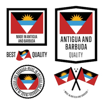 Antigua and barbuda quality label set