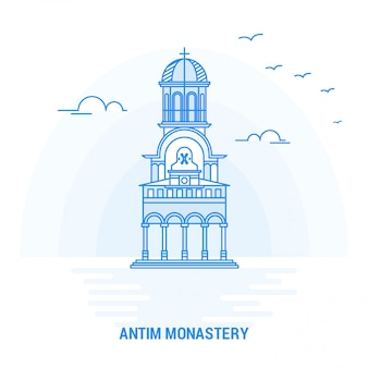 Antim monastery blue landmark