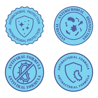 Antimicrobial resistant badges antiviral and antimicrobial formula clean hygiene label