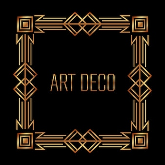Antiquarian frame in art deco style filigree ornament