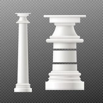 Античная колонна в дорическом стиле на прозрачном фоне