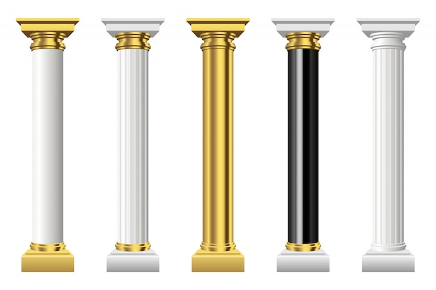 Antique columns isolated