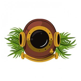 골동품 다이빙 헬멧