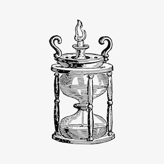 Antique egg timer drawing