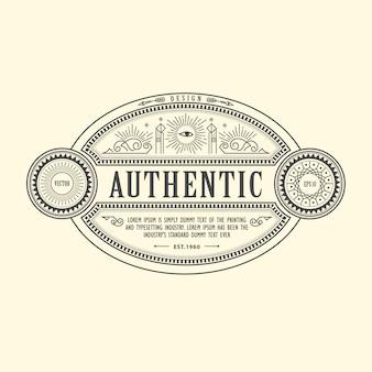 Antique frame vintage border western label hand drawn engraving retro
