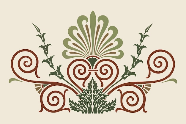Antique greek decorative element illustration