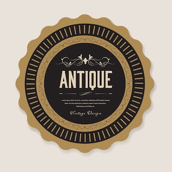 Antique label and vintage banner retro style.