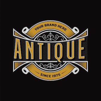 Antique label template