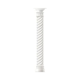 Antique marble column or pillar realistic illustration