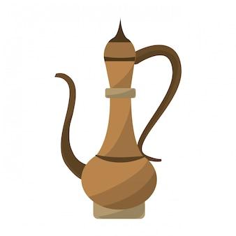 Antique oriental carved jug