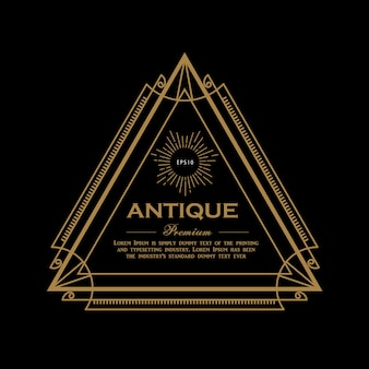 Antique premium label design