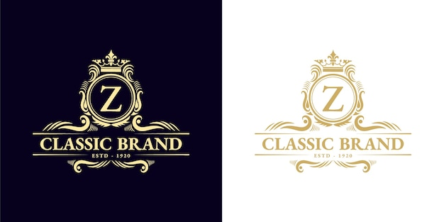 Antique retro luxury victorian calligraphic emblem logo with ornamental frame suitable for barber wine craft beer shop spa  beauty salon boutique antique restaurant hotel resort classic royal brand