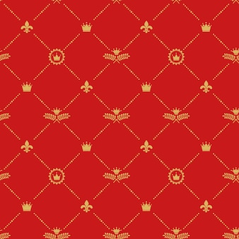 Antique royal seamless pattern.