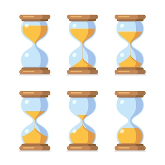 Antique sand clock sprite sheet animation.
