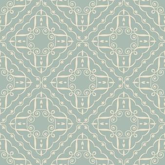 골동품 원활한 곡선 나선형 패턴