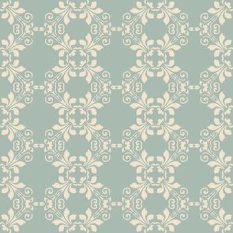 골동품 원활한 플로랄 패턴