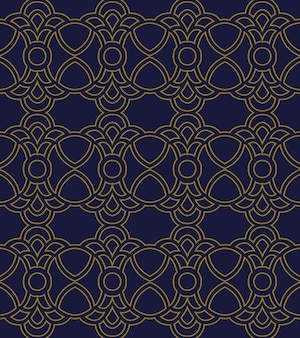 Antique seamless pattern curve round cross crest   chain
