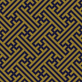 골동품 원활한 패턴 기하학 크로스 트레이 서 리 프레임