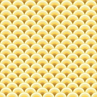 동양 중국 골든 드래곤 스케일의 골동품 원활한 패턴