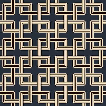 사각 교차 체인 기하학의 골동품 원활한 패턴