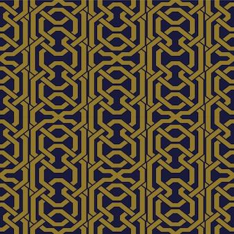 Antique seamless pattern polygon geometry cross   chain line