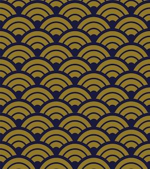 골동품 원활한 패턴 둥근 곡선 크로스 스케일