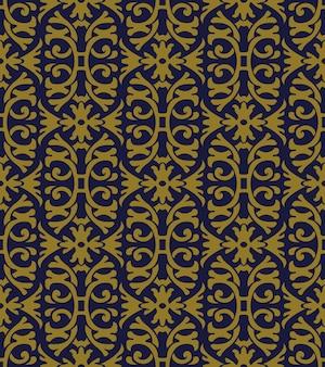 골동품 원활한 패턴 나선형 곡선 크로스 꽃