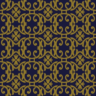 골동품 원활한 패턴 나선형 곡선 크로스 프레임 꽃