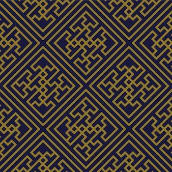 골동품 원활한 패턴 나선형 소용돌이 크로스 형상 프레임