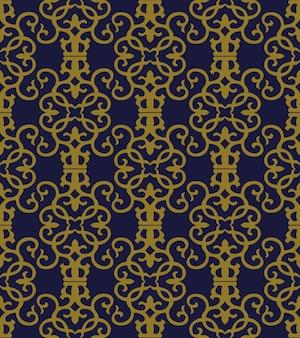 골동품 원활한 패턴 나선형 소용돌이 곡선 크로스