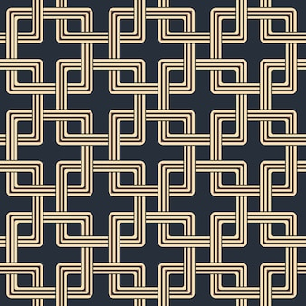 Antique seamless pattern of square cross chain geometry
