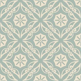 골동품 원활한 라운드 꽃 패턴